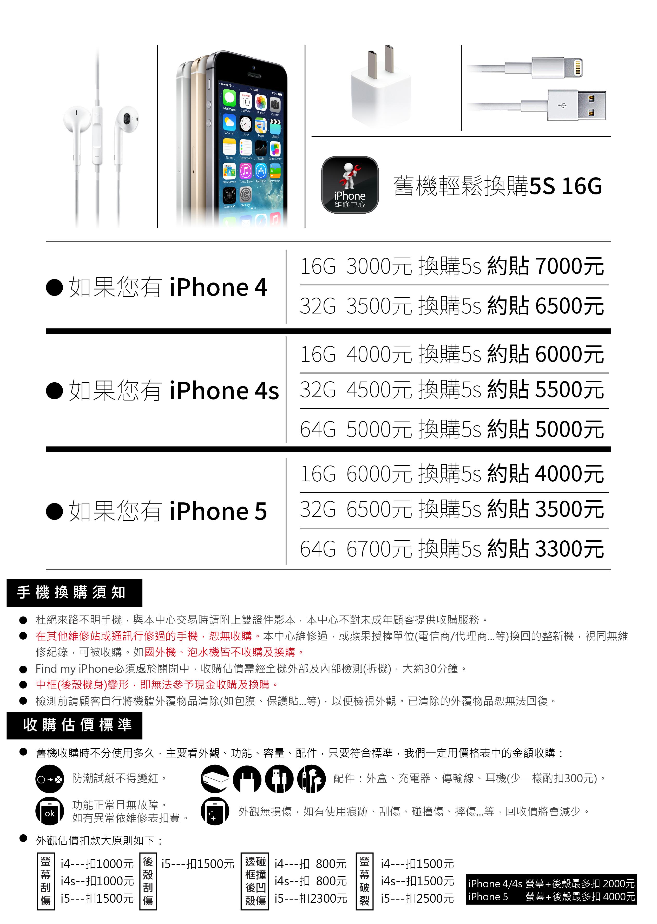 20151214_iPhone維修中心_換購5s價格表-01